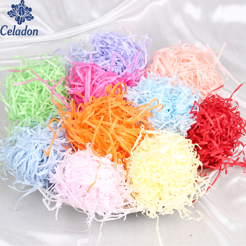 100g/pack DIY Paper Raffia Shredded Crinkle Paper Confetti Gifts/Box Filling Material Birthday/Wedding Party Decoration Supplies