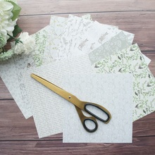 20sheets DIY 10 style 15.2*15.2cm Romantic garden theme craft paper as scrapbooking creative handmade gift use