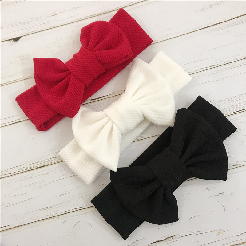 Baby Turban Headwraps Headband Newborn Bow  Baby Girl Headbands Bandeau Bebe Fille White Hairband Toddler Fabric Knot Headwear