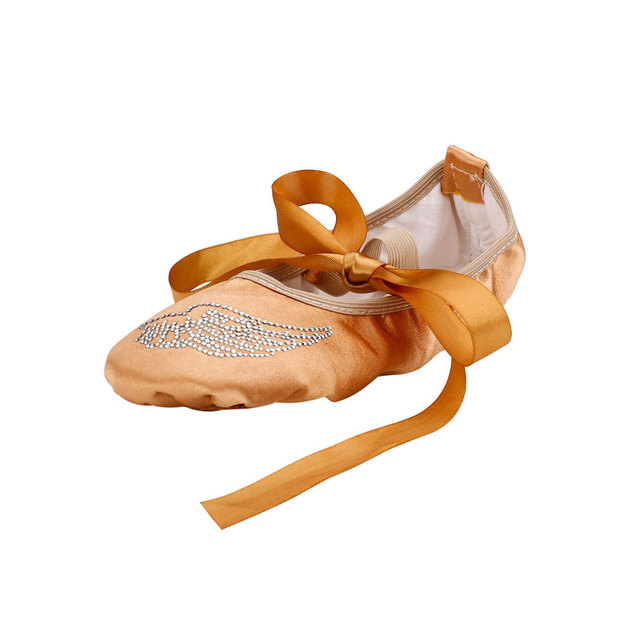 0db191341 MSMAX Ballet Shoes Girls Soft Sole Riband Lacing Butterfly-Knot Children  Dance Shoes Indoor Latin Yoga Practice Shoes