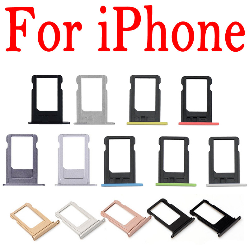 Us 025 Micro Nano Sim Card Holder Tray Slot For Iphone 5 S C 5c 5s 5g Se 5se Replacement Part Sim Card Card Holder Adapter Socket Apple In Sim Card
