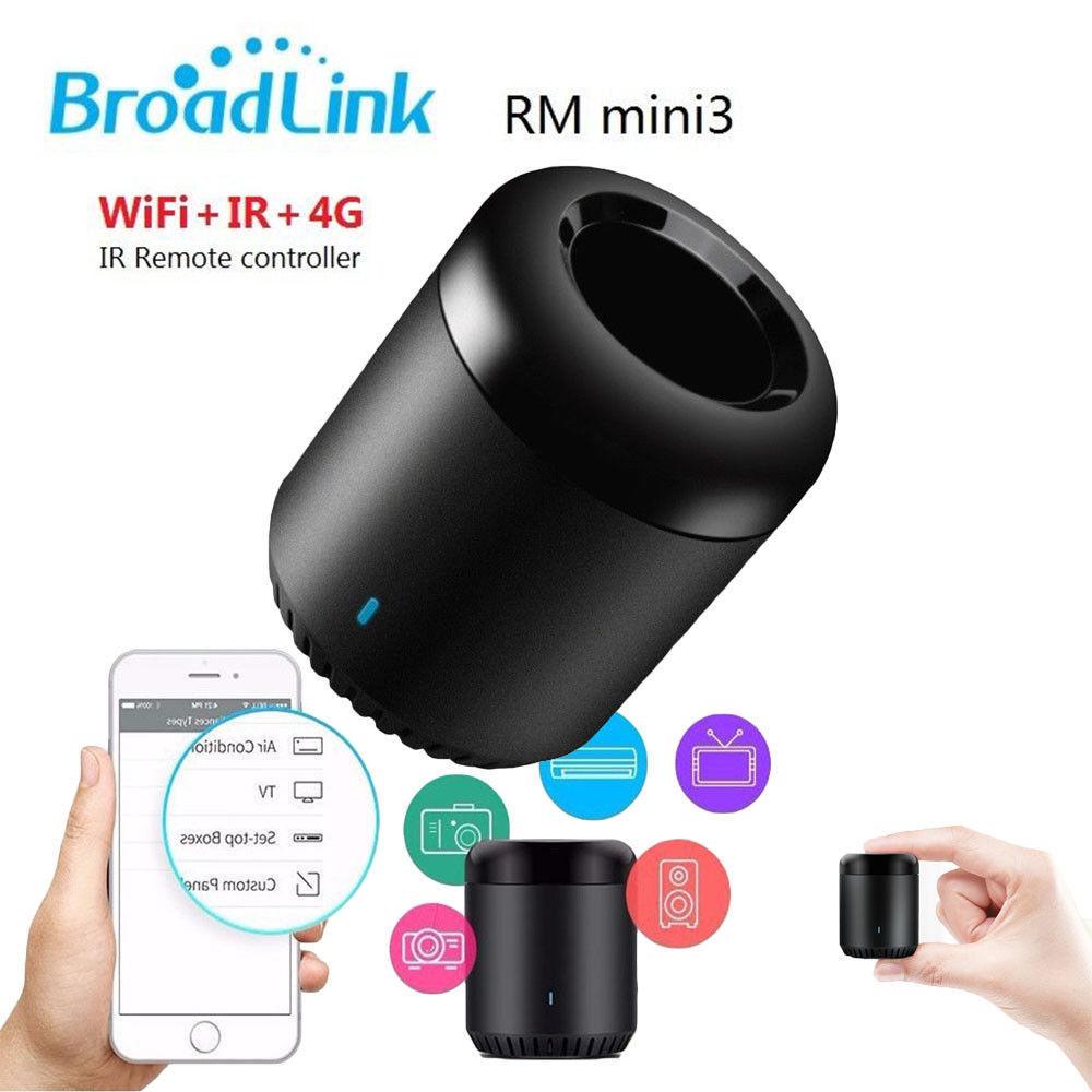 Broadlink Smart Home RMMini3 Controller Work for Alexa Google Home IFTTT Smart Home WiFi+IR+4G Wireless APP Voice Controller