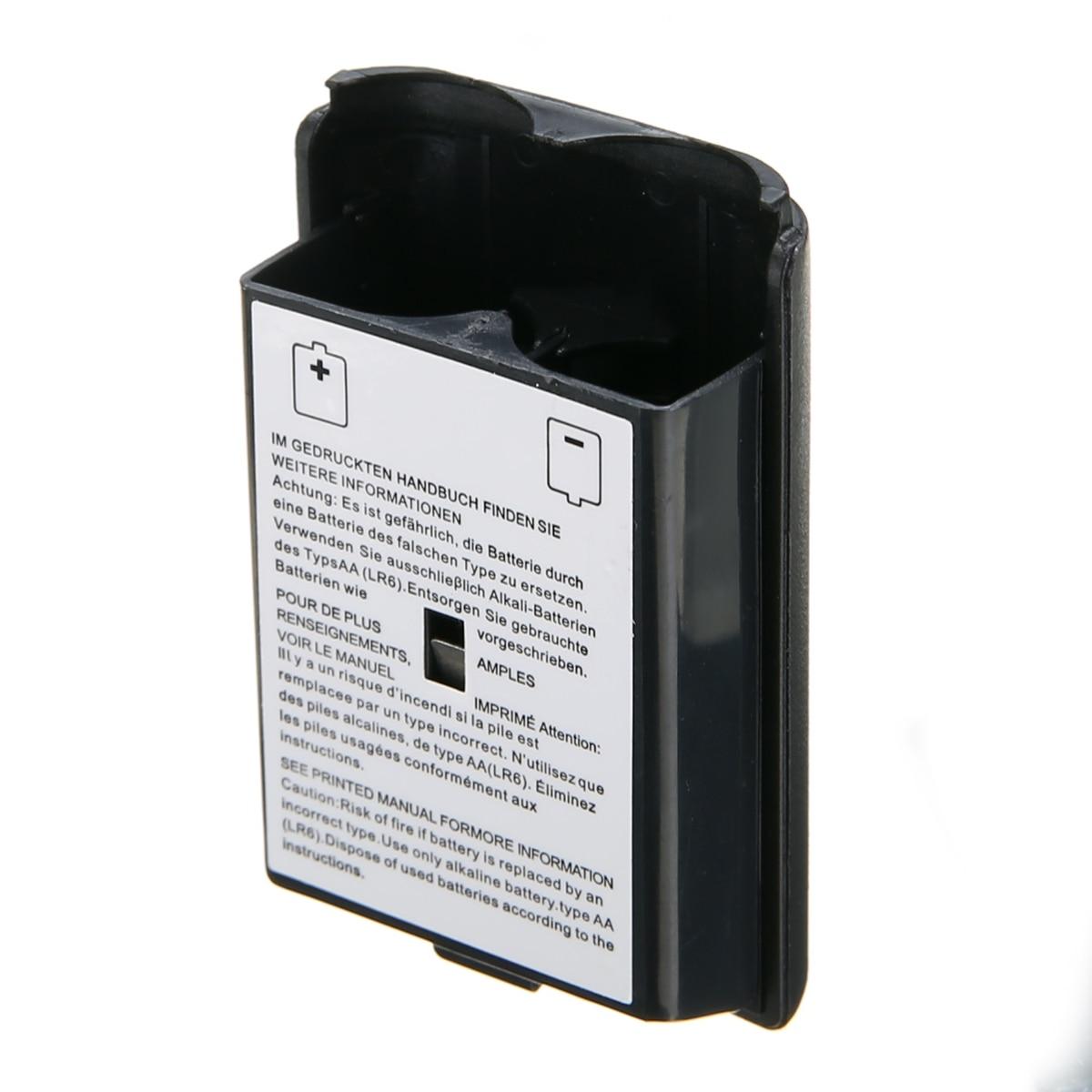 1 pc New Arriwal Preto Tampa Da Bateria AA Suporte Da Bateria de Plástico ABS Shell Case para XBOX 360 Controlador de Jogo Sem Fio acessórios