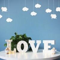 5 шт. 3D 26 белый буква L Форма светодиодный знаковое событие Алфавит света в помещении ночник Спальня одежда для свадьбы, дня рождения Декор