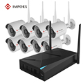 8 pcs P2P Sem Fio Wi-fi Câmera IP 720 P Bala À Prova de Intempéries Com kit Sistema de Vigilância CCTV 8CH 720 P NVR sistema de Kit