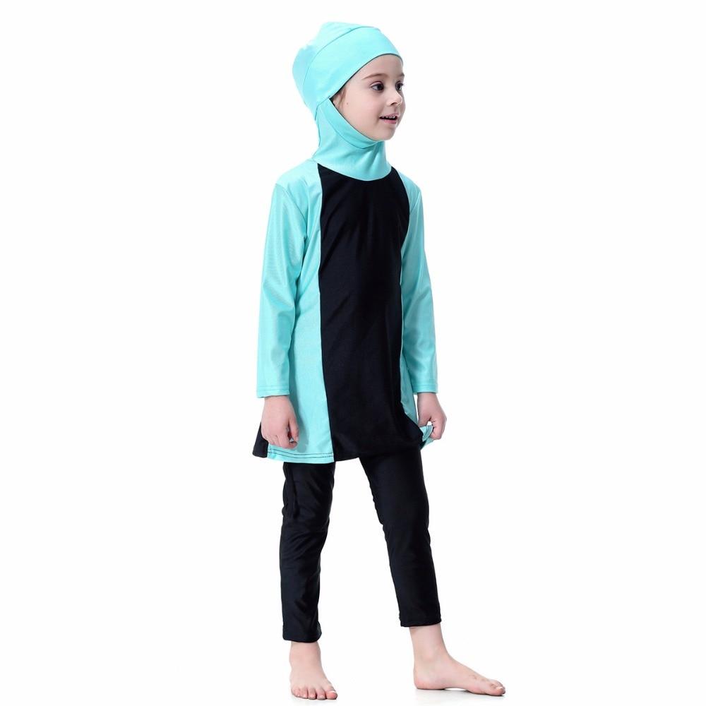 Yongsen muçulmano islâmico banho 2020 menina hijab