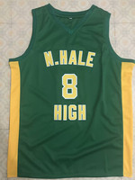 Wiz Khalifa #8 N. Hale Mac Devin Go to High School Mens Basketball Jersey Embroidery Stitched Customize any name and number