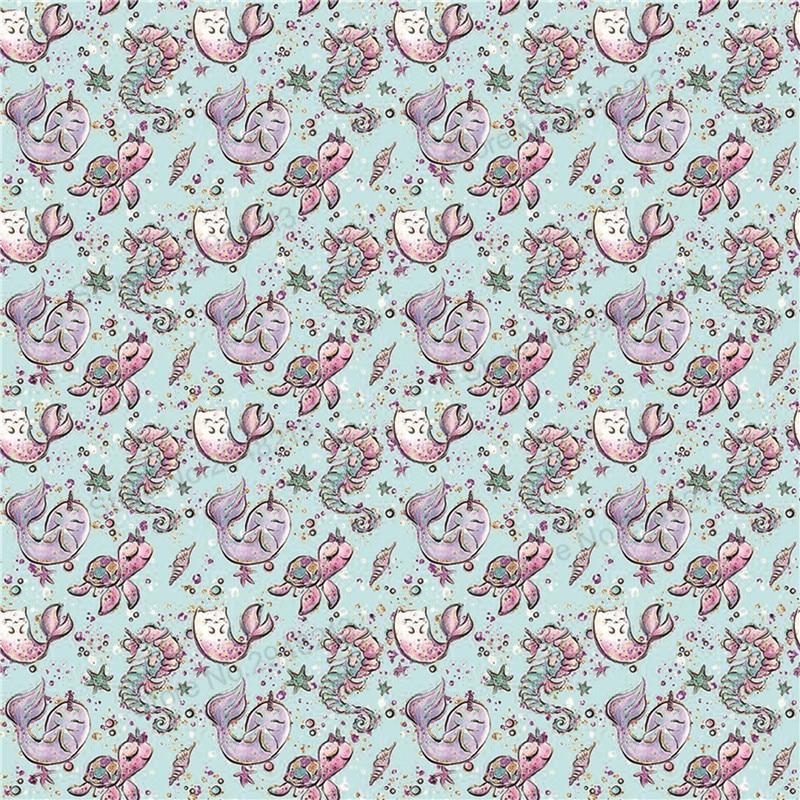10 шт./лот искусственная кот рыбы печатных синтетическая кожа ткань Vinly для волос лук сумки 20 * см 34 см PPUL24