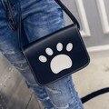 2016 summer sweet fashion feet shoulder Messenger handbag quality PU leather women bag wild female bag small square package mini