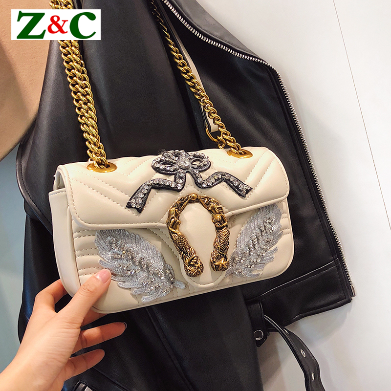 Classic Women Gold Chain Flap Clutch Shoulder Bag Luxury Designer Bacchus Bag Leather Messenger Bags Famous Popular Dionysus Sac new retro velvet small cover flap pocket bag quilted women shoulder bag designer clutch chain messenger bags famous brands