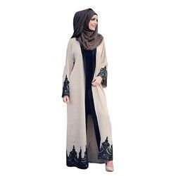 Новая женская одежда с кружевами Длинные рукава мусульманское платье исламское Турецкая женская одежда Djellaba халат платье