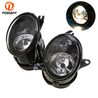 POSSBAY Fornt Lower Bumper Fog Light Assembly for Audi A6(C5) sedan/Avant 2002 2003 2004 2005 12V 55W Auto External Lamps