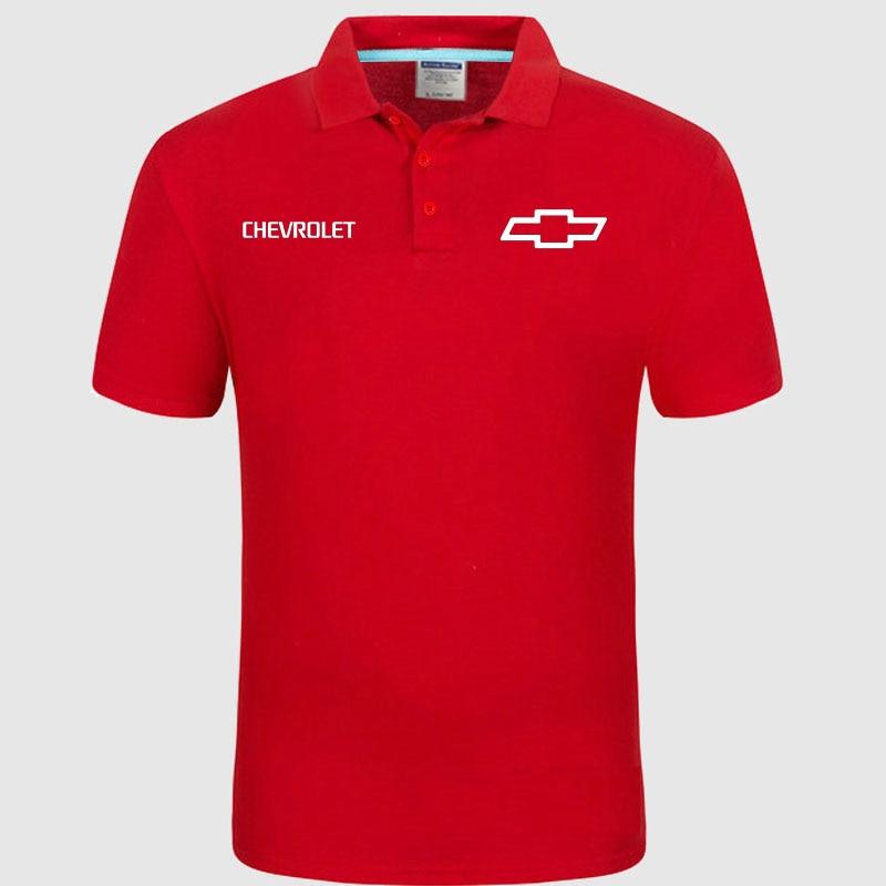 Summer Polo Shirt Chevrolet Logo Brand Men's Fashion