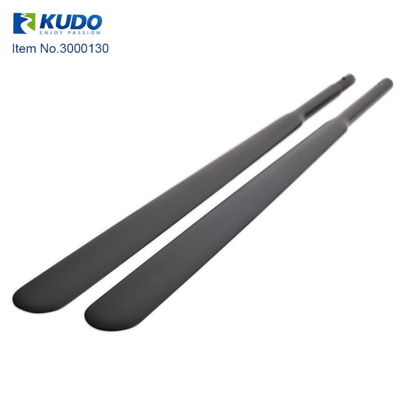 High Quality Lightweight 2 Piece Full Carbon Fiber Kayak Greenland Paddle With Free Bag