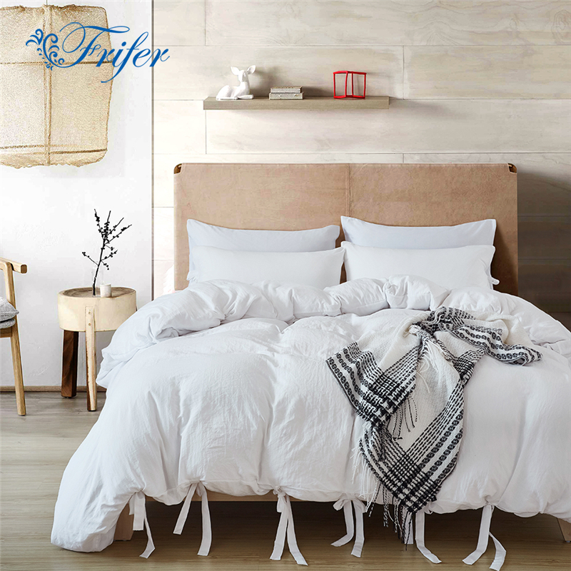US $30.94 25% OFF|Twin/Queen/King White Bedroom Comforter Bedding Sets Bed  Quilt Sheets Set Bedclothes Duvet Cover Bedspread Pillowcase US Size-in ...