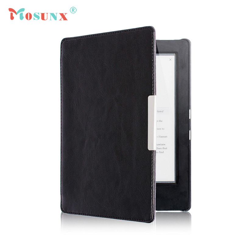 Hot-sale MOSUNX Magnetic Auto Sleep Leather Cover Case +HD Screen Protective Film +TOUCH PEN For NEW KOBO AURA H2O eReader Gifts magnetic auto sleep slim cover case hard shell for kobo glo hd 6 0inch dec21