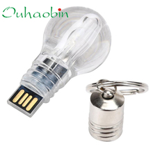2017 New USB 2.0 16GB Blue LED light Lamp Bulb Model Memory Flash Stick Pen Drive U Disk High Quality Wholesale Price-KXL0418
