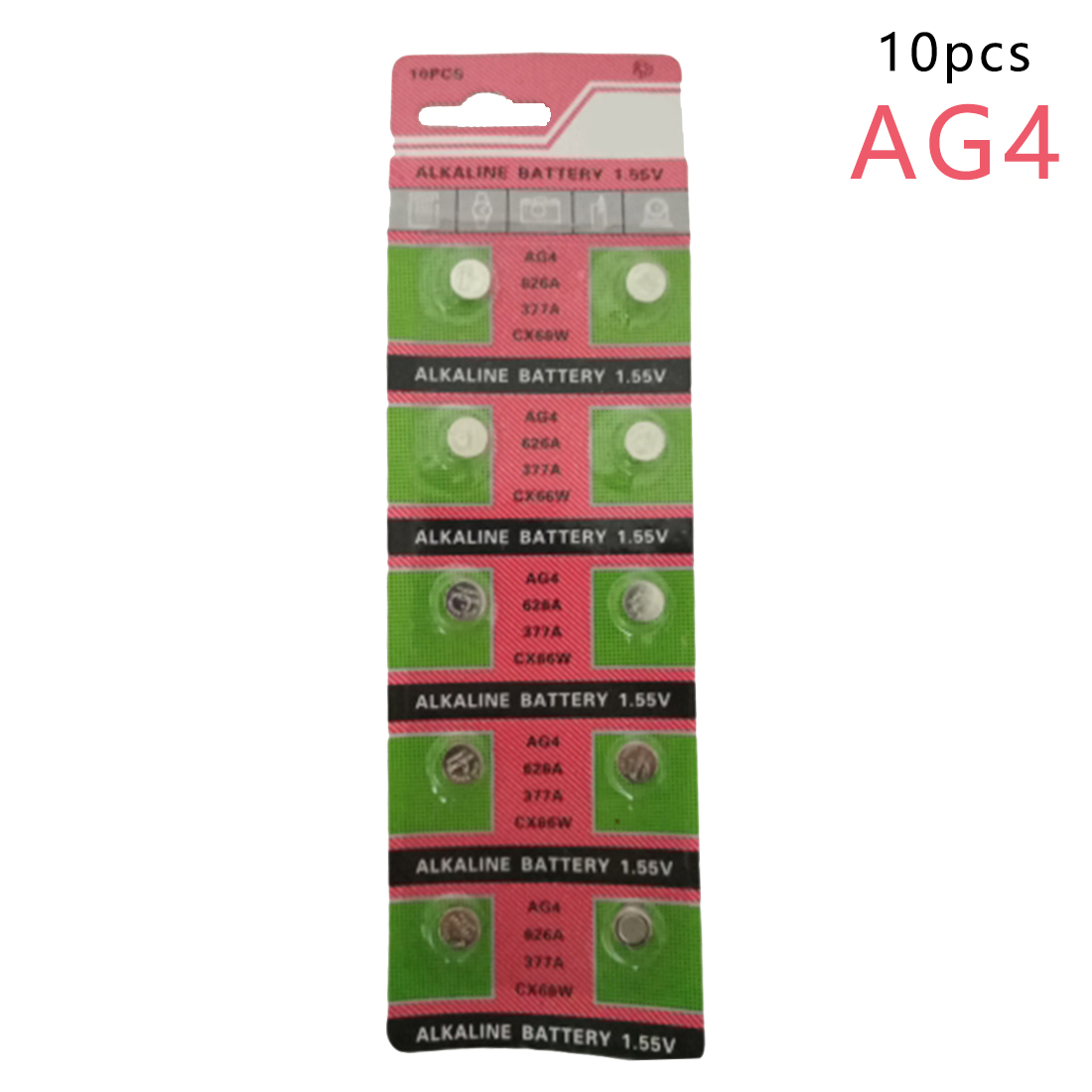 Centechia High Quality Wholesale 10PCS/lot =1cards AG4 377A 377 LR626 SR626SW SR66 LR66 Button Cell Watch Coin Battery