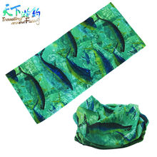 Promotion! 10 Colorful Fishing Scarf Seamless Fish Pattern Outdoor Bandanas Fishing Tube Carp Fishing Pesca Acesorios Headwear(China)