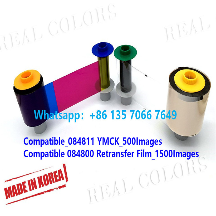 Compatible  Ribbon PCC 084811 YMCKand PCC 084800 Film Made In South Korea(Korea)