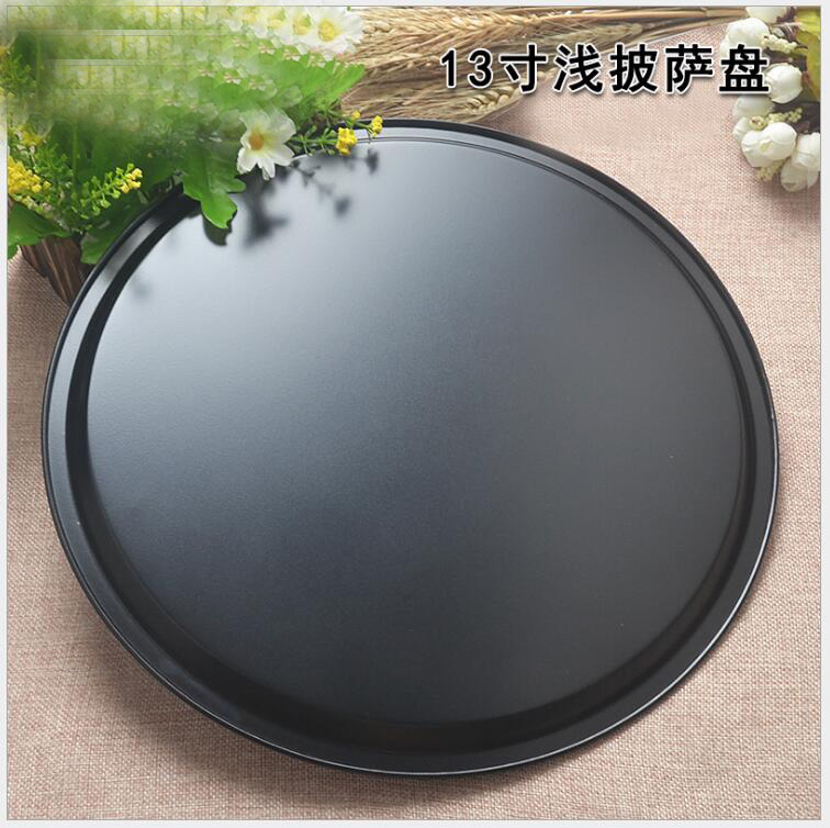 13 inch <font><b>Round</b></font> DIY Cake <font><b>Pans</b></font> Pizza <font><b>Pan</b></font> Mold Cup cake Bake <font><b>Baking</b></font> Mould Stainless steel Household Kitchen Tool image