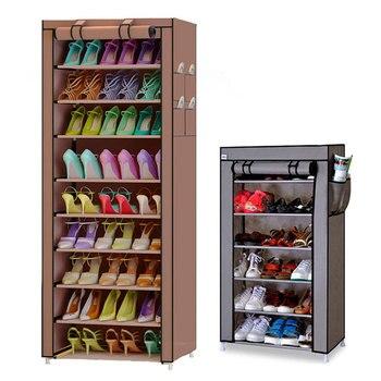 7 Capas 10 Capas Minimalista Multifuncion Almacenamiento Zapato Gabinete Diy Pano Zapatero Zapatos Organizador Muebles Para El Hogar