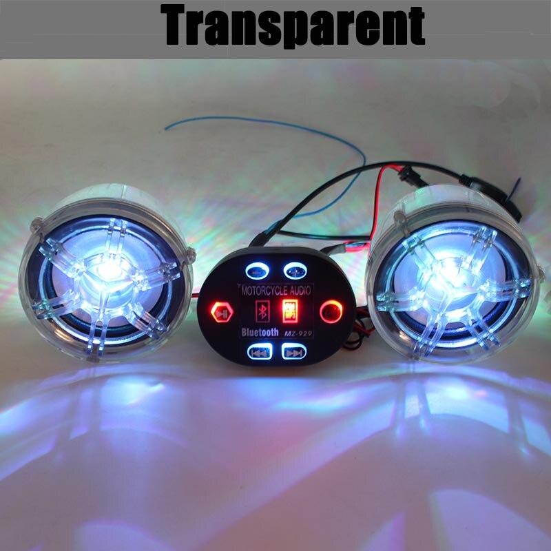 купить Motorcycle Anti-Theft Alarm System Moto music Audio MP3 Speaker FM TF SD MMC Stereo Sound moto Horn System 40W High Power недорого