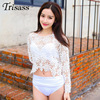 2016 Beach Cover Up Crochet Beach Dress Swimsuit Scarf Hollow Out Pareo Sarong Cloak Long Sleeve