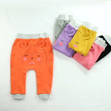 hot deal buy toddler baby boys girls pants 2018 autumn new kids pants baby cartoon harem pants children's cotton high-elastic pp trousers