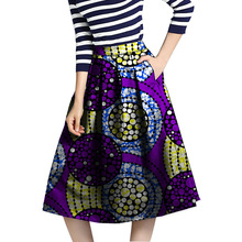 African Kente Skirt African Clothing Printed Skirts Ankara Pleated Skirt Dashiki Print Summer Streetwear Women Clothes