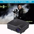 LED projector H80 Portable Mini LED LCD HomeTheater Projector Support PC Laptop Full HD 1080P Video With AV/VGA/USB/SD/HDMI/TV