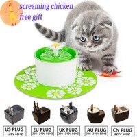 110 220 V Điện Hoa Pet Đài Phun Nước 1.6L SỐ Tự Động Dog Cat Trung Chuyển nước Uống Bát Pet Uống Cat Nước Dispenser Xanh màu xanh lá cây