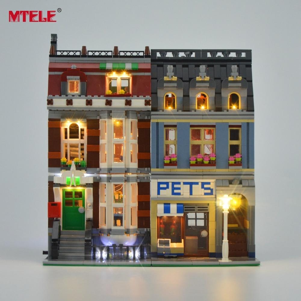 MTELE Merek LED Light Up Kit Untuk Pet Shop Supermarket Cahaya Set - Mainan bangunan dan konstruksi - Foto 2