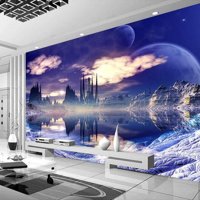 Fantastisch Nach Wandbild Malerei Schloss Im Himmel Foto Hintergrund Tapete Für  Wohnzimmer 3D Wandmalereien Tapete Wohnkultur