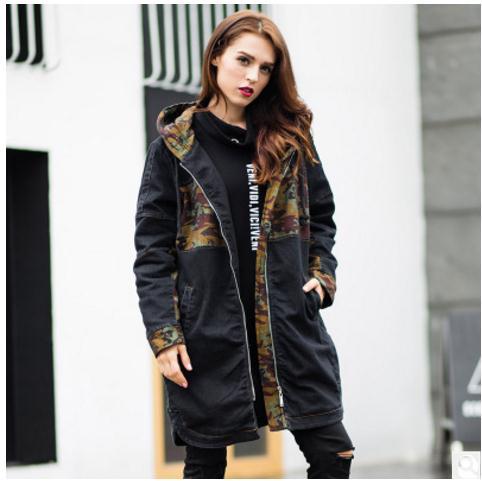 Newest Womens Large Size Stitching Camouflage Cotton Padded Jackets Large Size Female Winter Autumn Parkas Xl/5Xl Overcoats K505