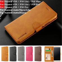 For Huawei P20 pro Luxury Flip Leather Wallet Case For Huawei P20 Lite Leather Cover For P10lite Mate10 lite/mate20 pro TPU case(China)