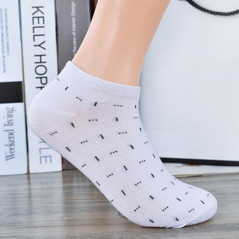 5 Colorful 1 Pair New Autumn Fashion Comfortable Cotton Sock Slippers Female Girls Patchwork Short Ankle Invisible Boat Socks