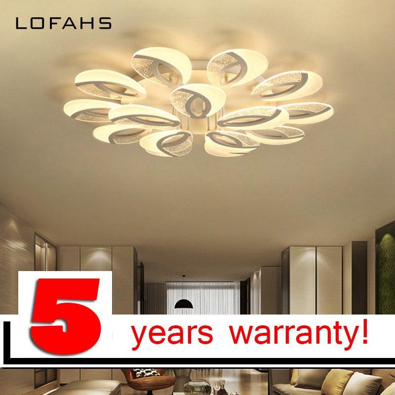 LOFAHS Moderne LED lustre éclairage de luxe acrylique à distance gradation lustre lampe pour salon salle à manger chambre lustre pj-408