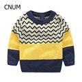 Niños Suéteres de Algodón Suéteres Del Muchacho Verde y Amarillo Chico Jersey Ropa Niños Niños Jersey Jersey de Punto Suéteres ropa de los cabritos
