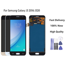 For Samsung Galaxy J3 2016 J320 J320A J320F J320M LCD Display With Touch Screen Digitizer Assembly 3Colors Available все цены