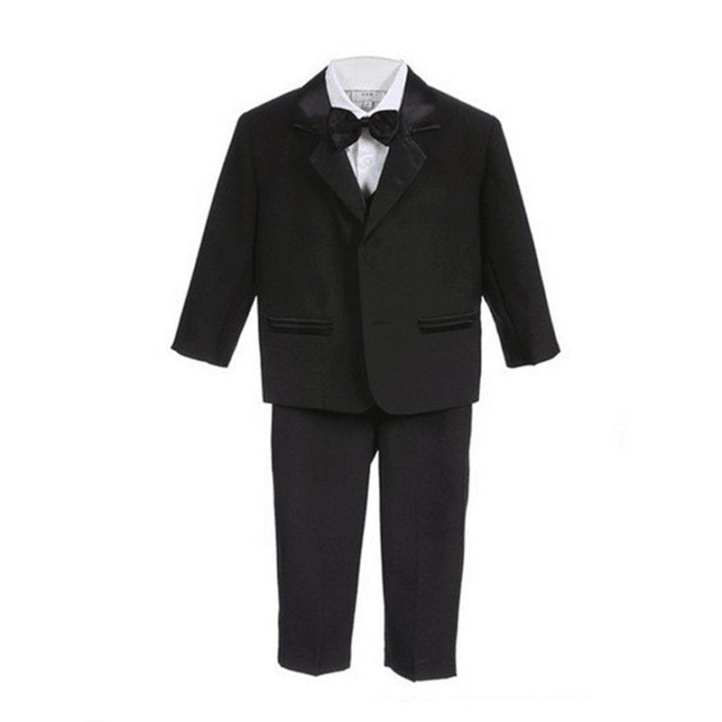 BBWOWLIN Baby Boy Formal Suits Clothes Black White Beige for Christmas Wedding Birthday Party 90106
