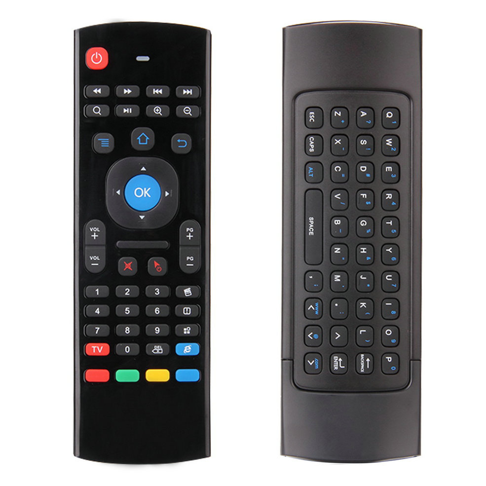 1 Set 2.4G Mini Wireless Remote Control Full Keyboard & TV Remote Air Mouse with USB Receiver For XBMC Android TV Box Mini PC