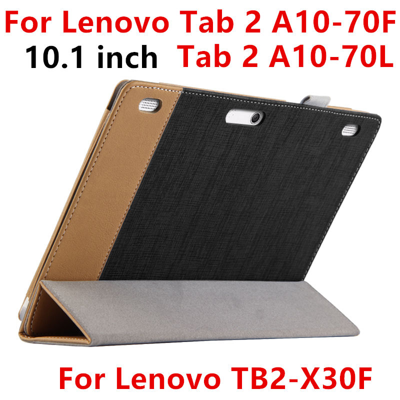 Case For Lenovo TAB 2 A10 70 L A10 70F Protective Smart cover Leather font b