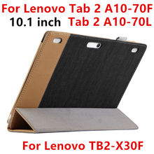 Case For Lenovo TAB 2 A10-70 L A10-70F Protective Smart cover Leather Tablet For TB2-X30F TB2-X30M 10.1inch PU Protector Sleeve