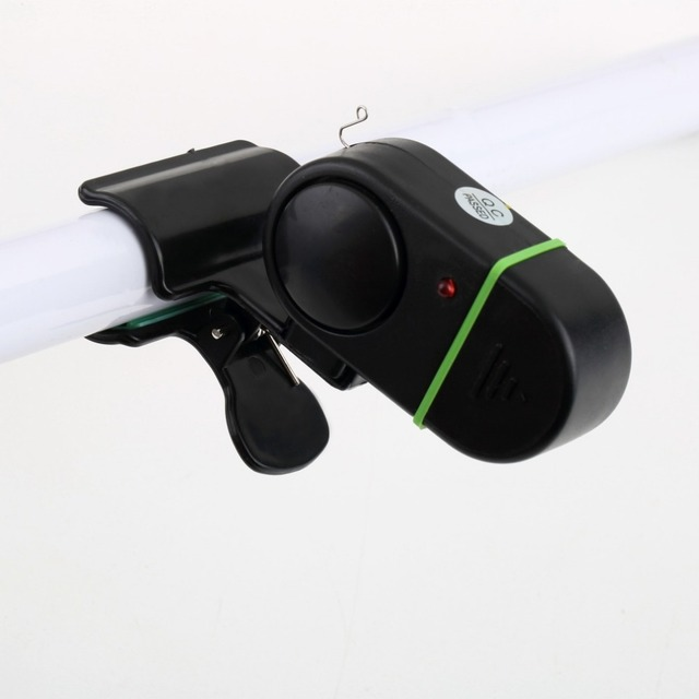 NEW Fishing Alarm Electronic Bite Fish Alarm Bell Fishing Rod Pole W/ LED light free shipping