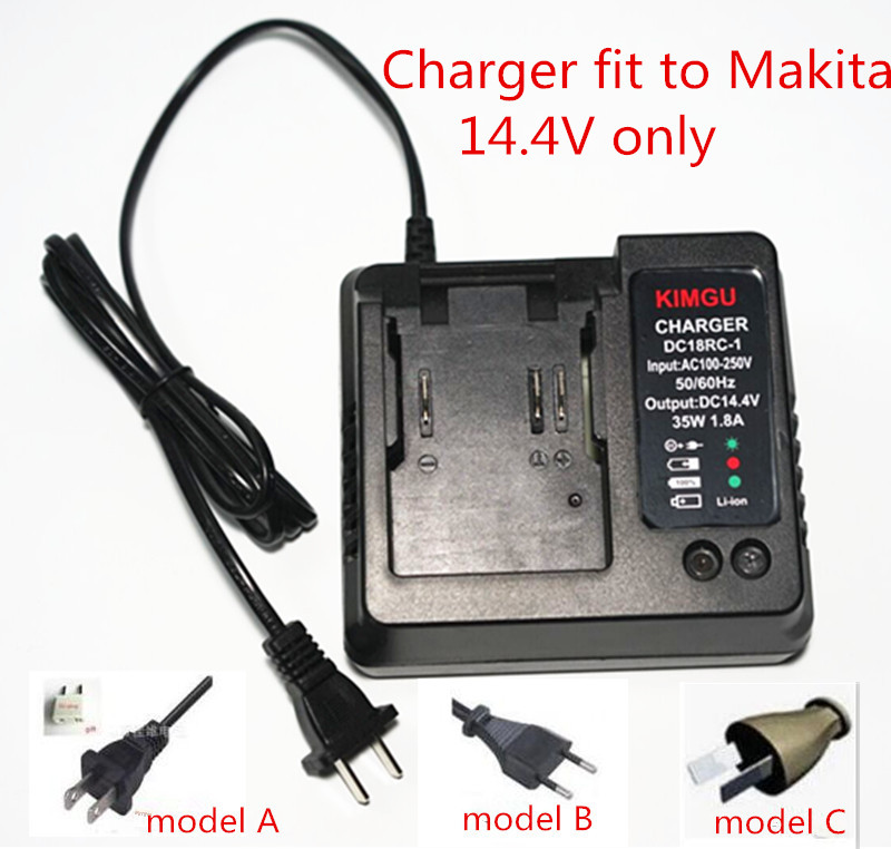 110- 240V Charger Replace for Makita Li-ion Battery 14.4V DC18RA DC18SE BL1415 BL1430 BL1440 BL1450 BL1460 charger for makita li ion battery bl1830 bl1430 dc18rc dc18ra dc18rct 100 240v 50 60hz