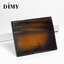 hot deal buy dimy vintage card case genuine leather multi-card business card holders portable bags coin purses id card holder men's wallet