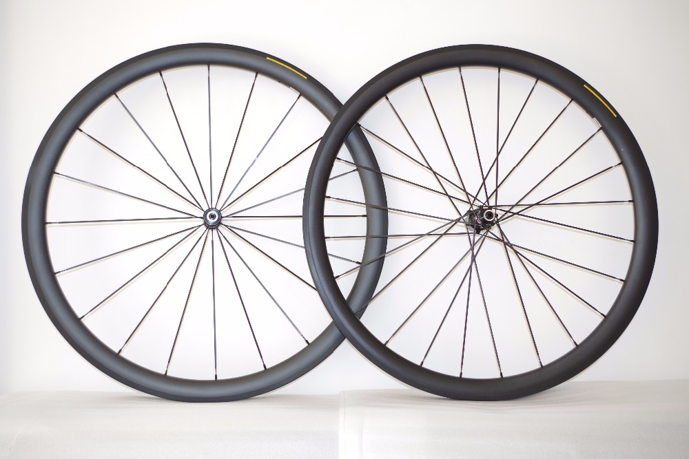 DEERACE SUPER LIGHT 40mm x 25mm 1190g 700c Carbon Tubular Road Bicycle Wheels Novatec Straight Pull Hubs SAPIM CX-RAY spokes
