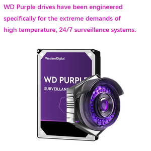 "Image 4 - WD Purple 2TB Surveillance Internal Hard Drive Disk 3.5"" 64M Cache SATA III 6Gb/s 2T 2000GB HDD HD Harddisk for CCTV DVR NVR"