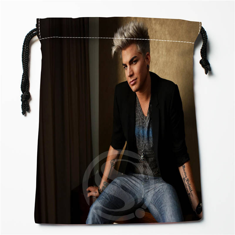 E#!c126 New Adam Lambert Custom Printed  Receive Bag Compression Type Drawstring Bags Size 18X22cm 7&12vc-qx126